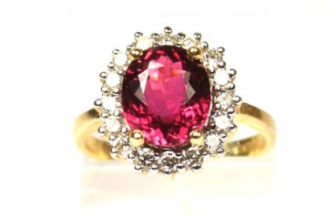 Tourmaline and Diamond Ring £1295.00