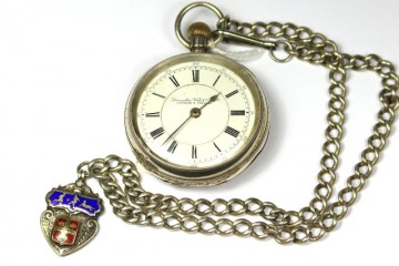 Silver Pocket Watch & Chain £295.00