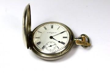 Silver Full Hunter Pocket Watch